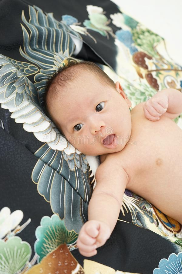 Miyamairi japoński świętowanie dla dziecka obrazy stock