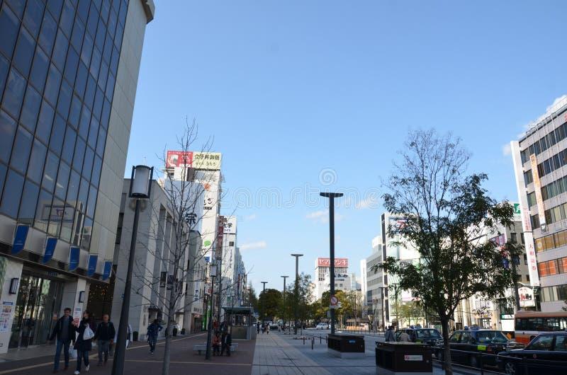 Miyuki Dori of Miyuki Road stock afbeelding