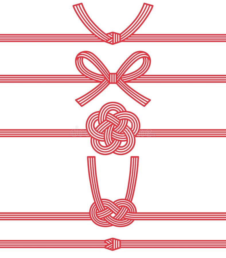 Mizuhiki: διακοσμητικό ιαπωνικό σκοινί που γίνεται από το στριμμένο έγγραφο απεικόνιση αποθεμάτων