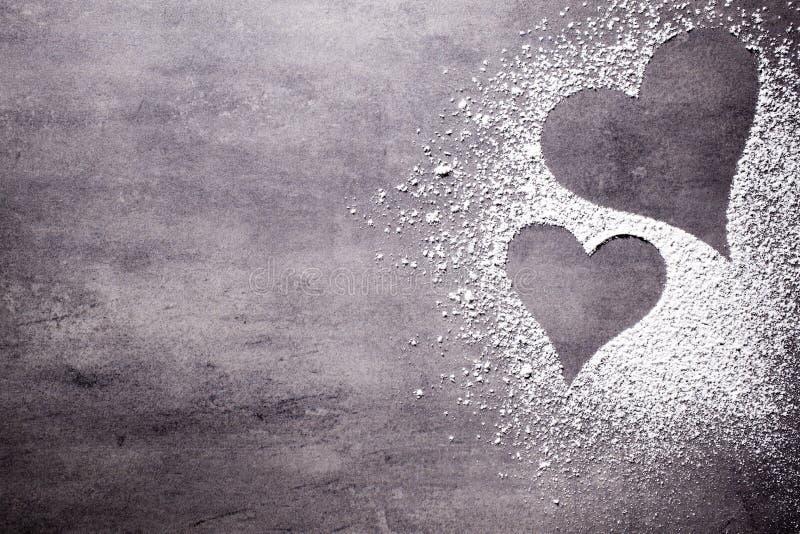 Mjöl och hjärta arkivfoton