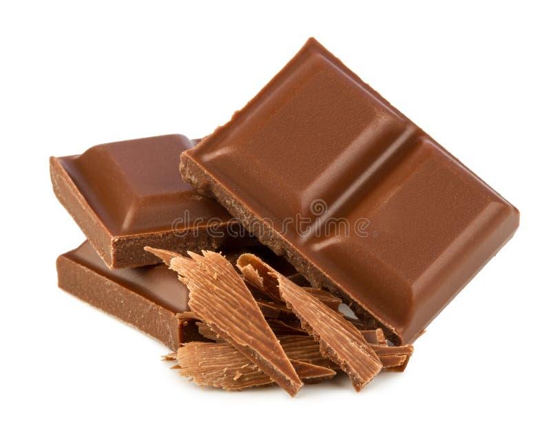 Mjölka choklad arkivbilder