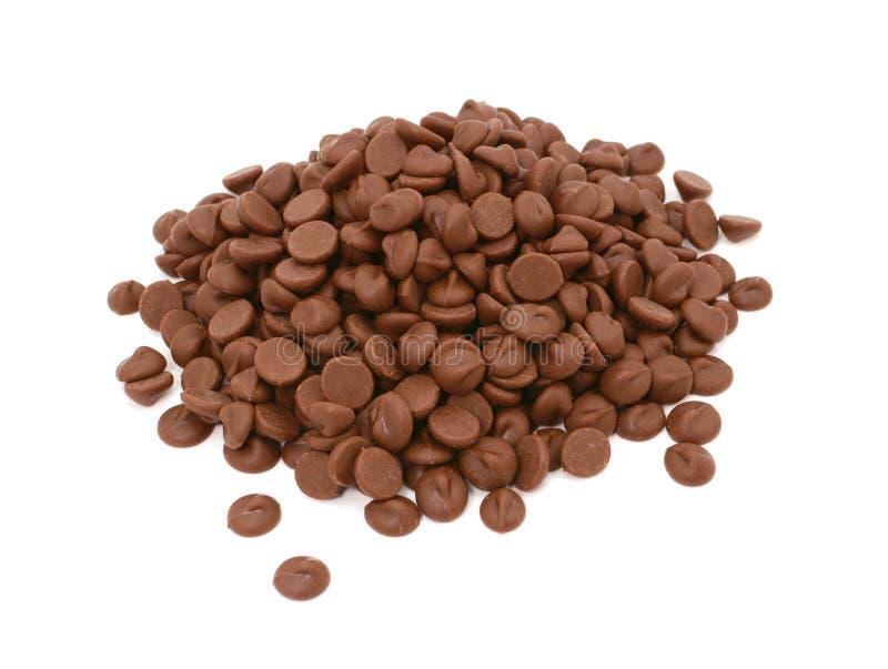 Mjölka chokladchiper arkivfoto