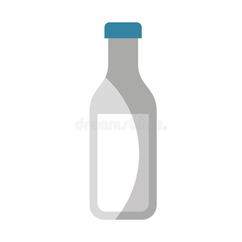 mjölka den botle isolerade symbolen royaltyfri illustrationer