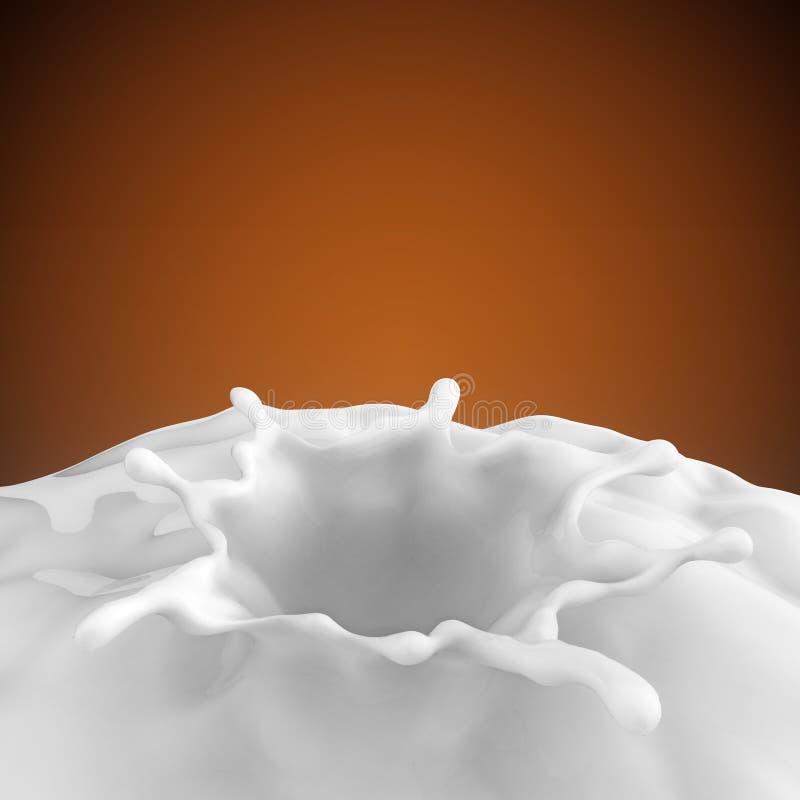 Mjölka eller vit flytandefärgstänk royaltyfria bilder