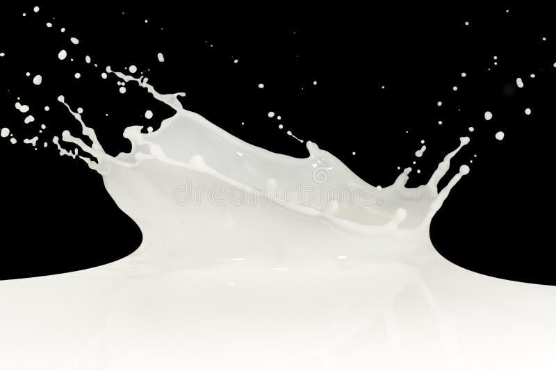 mjölka färgstänk royaltyfri foto