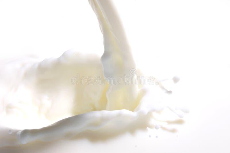 mjölka färgstänk royaltyfria foton