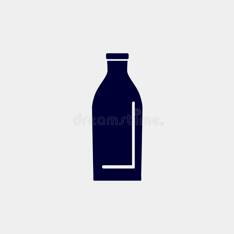 Mjölka flasksymbolen vektor illustrationer