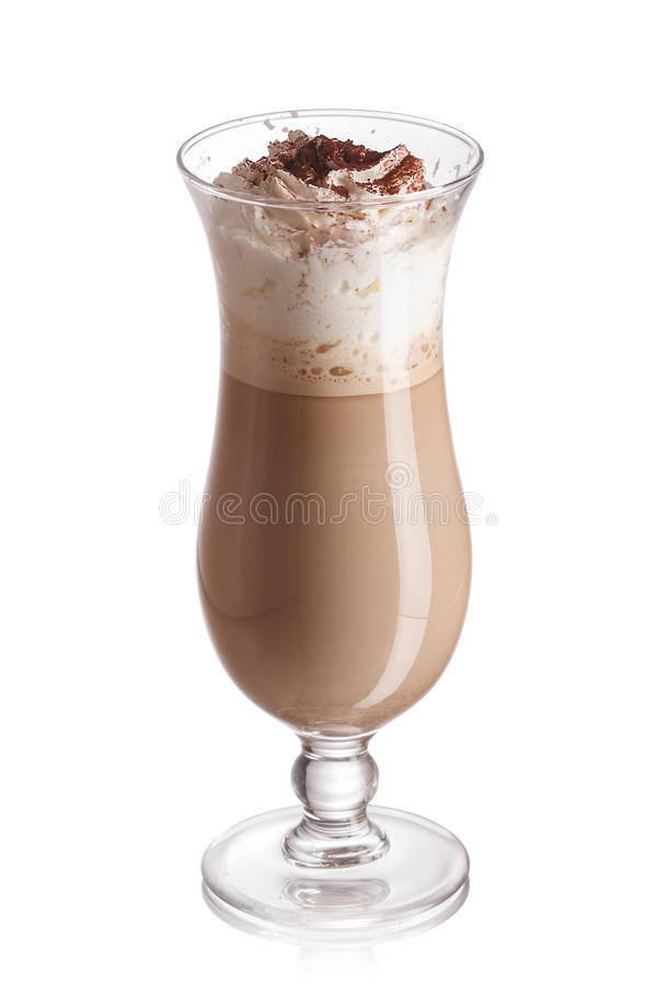 Mjölka och kaffecoctailen royaltyfri fotografi