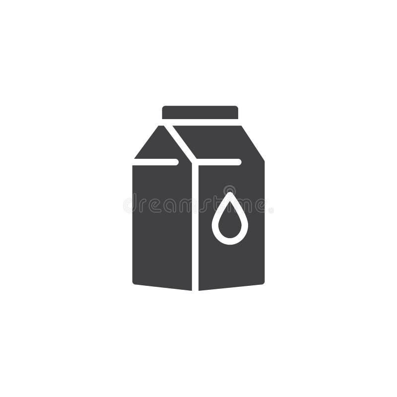 Mjölka packesymbolsvektorn royaltyfri illustrationer