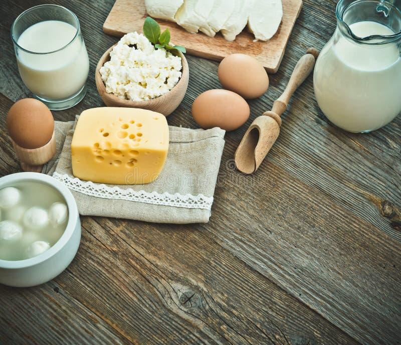 Mjölka produkter royaltyfri bild