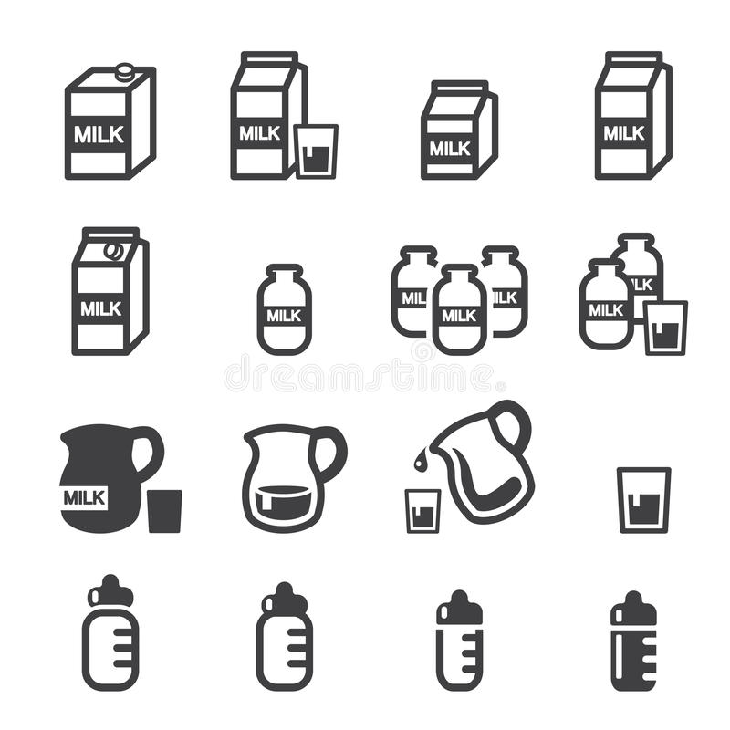 Mjölka symbolen vektor illustrationer