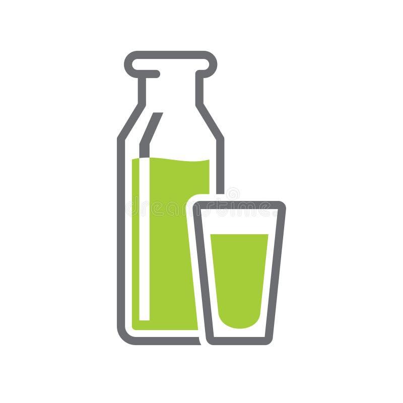 Mjölka symbolen på vit bakgrund för diagrammet och rengöringsdukdesignen, modernt enkelt vektortecken för färgbegrepp för bakgrun royaltyfri illustrationer