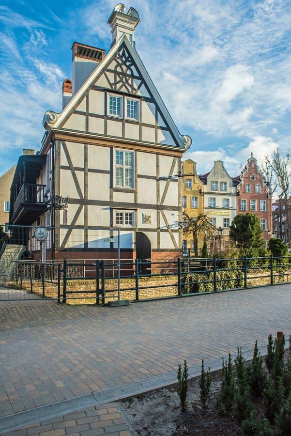Mjölnarens hus i den gamla staden av Gdansk, Polen fotografering för bildbyråer