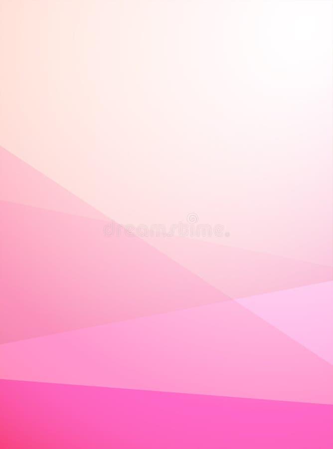 Mjuk abstrakt bakgrund för vektorljus i Rose Magenta färg Vertikal modern tapet med den geometriska modellen vektor illustrationer