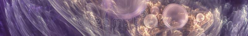 Mjuk abstrakt bild Den Gorizontal panoramautsikten f?r kithen panelskinali 3d framf?r stock illustrationer