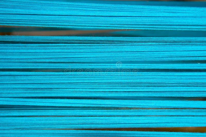 Mjuk blå bomullstråd för abstrakt bakgrund royaltyfri fotografi