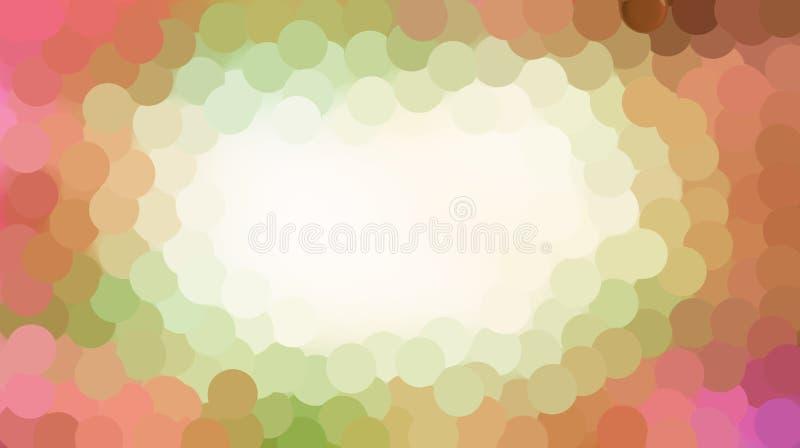 Mjuk färgcirkel med suddighetseffektbakgrund royaltyfri illustrationer