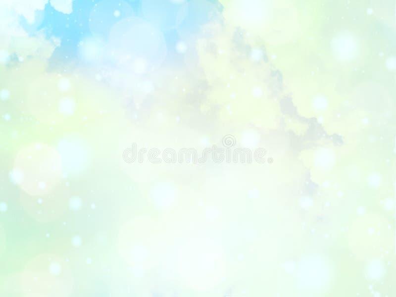 Mjuk färgrik bokeh tänder defocused abstrakt bakgrund stock illustrationer