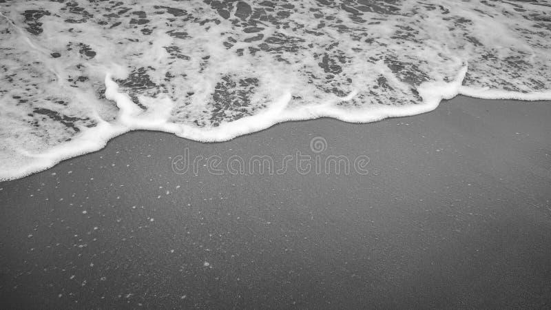 Mjuk härlig havvåg på den sandiga stranden arkivbilder