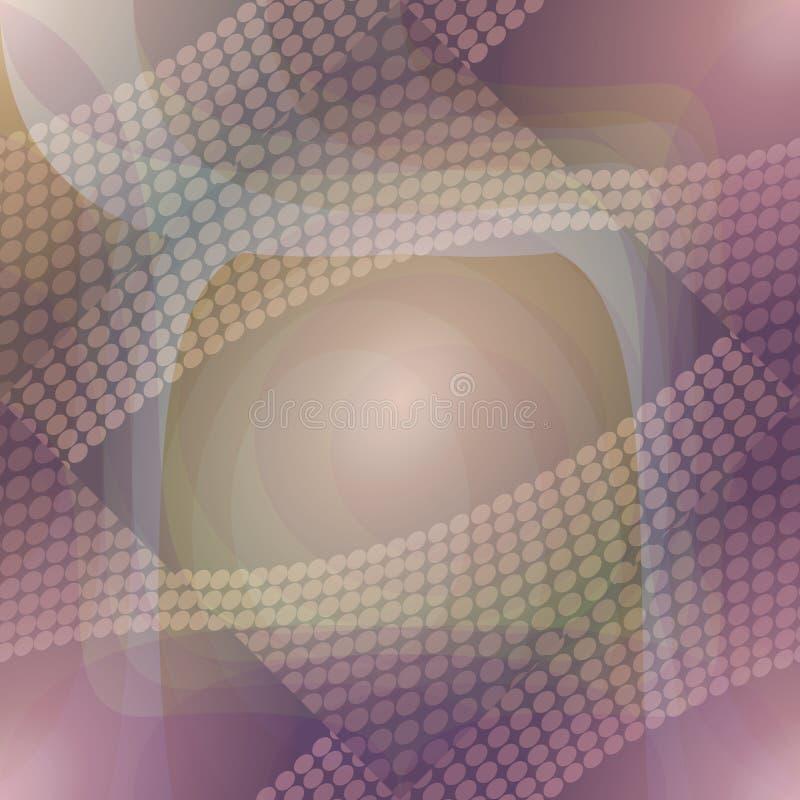 Mjuk modern abstrakt bakgrund i lilor och guling vektor illustrationer