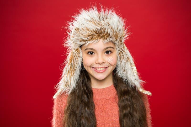 Mjuk päls- tillbehör Spetsar för att att bry sig för pälsplagg Hatt för långt hår för barn mjuk att tycka om softness Vintermodeb royaltyfria foton