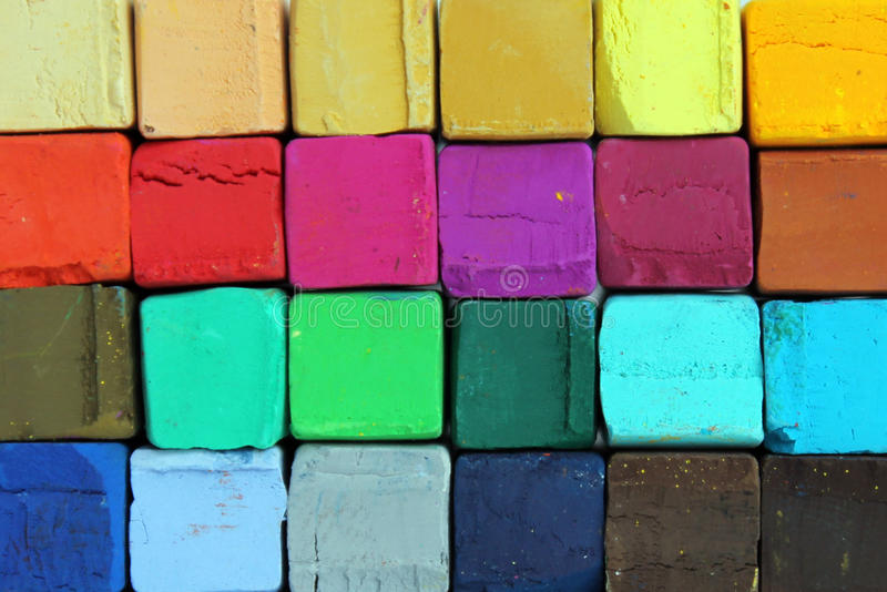 Mjuk pastell för konstnärer arkivbild