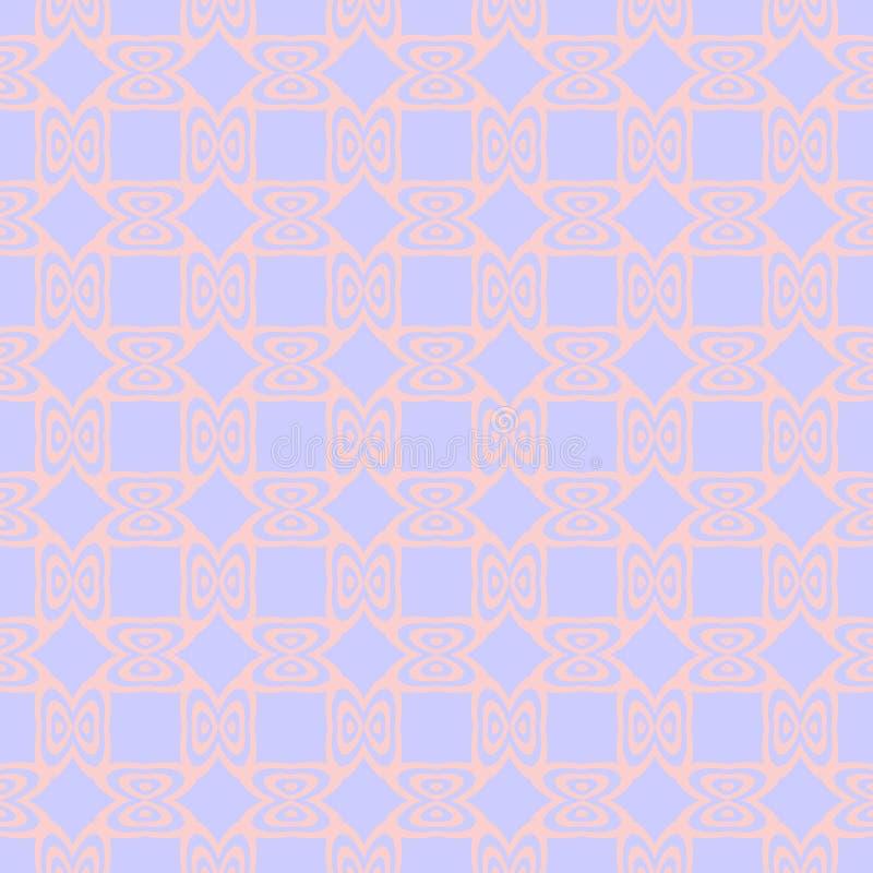 Mjuk sömlös modell med att upprepa prydnaden i pastellfärgade signaler vektor illustrationer