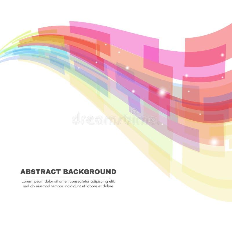 Mjuk signal - bakgrund för abstrakt begrepp för rektangelvågvektor royaltyfri illustrationer