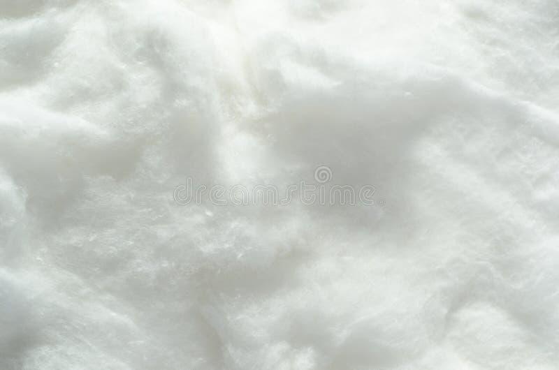 Mjuk vit bomulltexturbakgrund royaltyfria foton