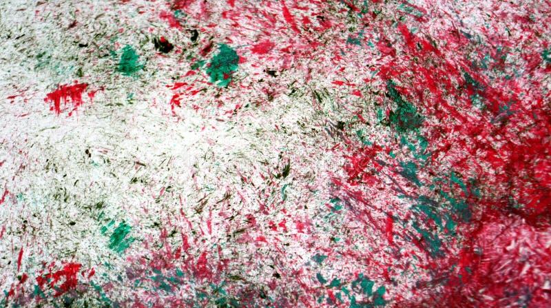 Mjuka kontraster för röd blandning för silver grön, målarfärgvattenfärgbakgrund, abstrakt målningvattenfärgbakgrund arkivbilder