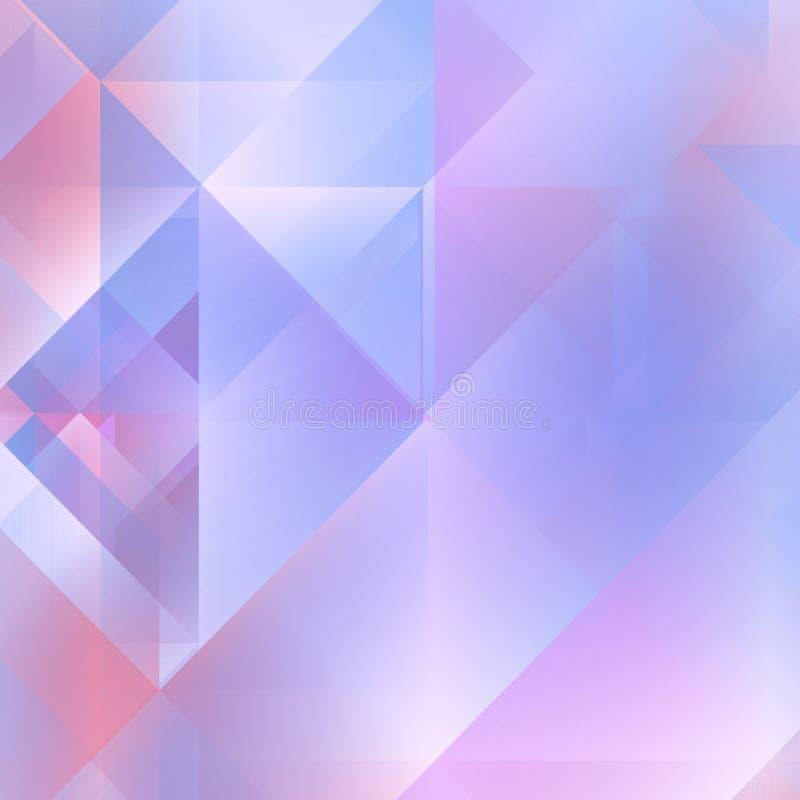 Mjuka lilor - blå geometrisk bakgrund stock illustrationer