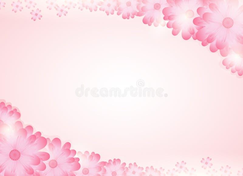 Mjuka rosa färger blommar ljus bakgrund stock illustrationer