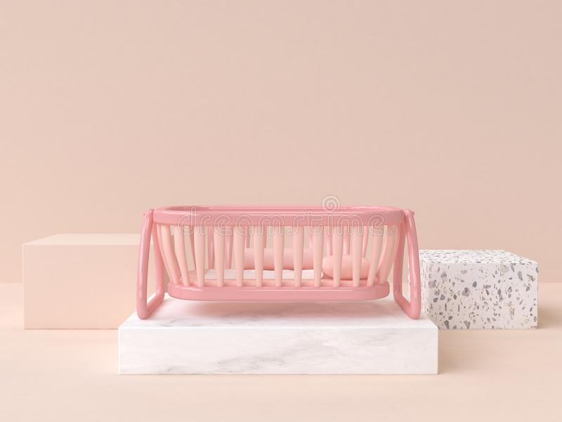 mjuka rosa färger för tolkning 3d att behandla som ett barn vaggatecknad filmstil vektor illustrationer
