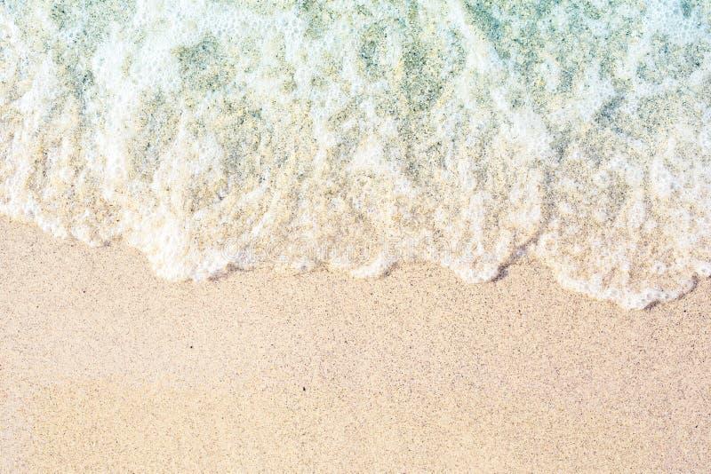 Mjuka vågor med skum arkivfoto