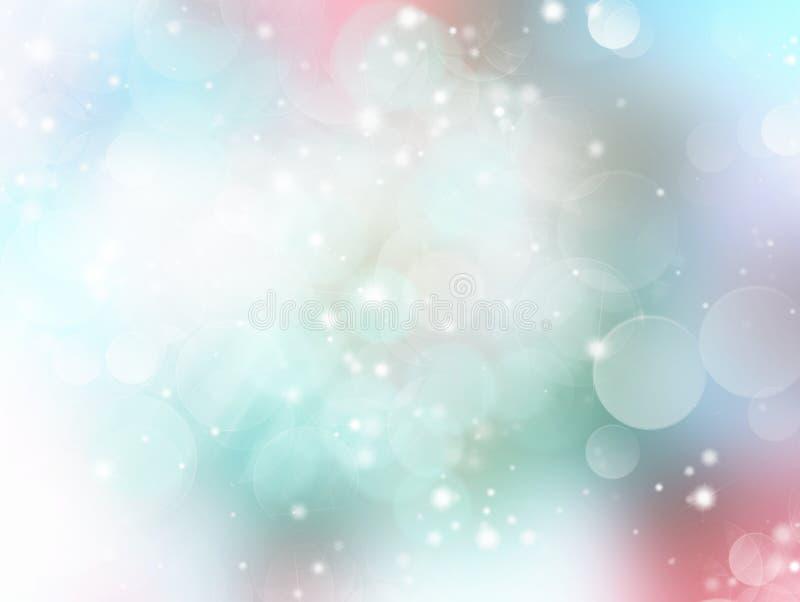 Mjukt pastellfärgat ljus - grön blå suddig bakgrund royaltyfri illustrationer