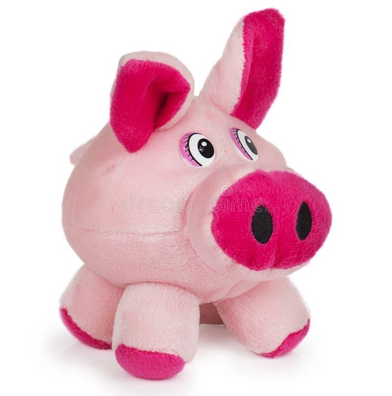 Mjukt rosa leksaksvin royaltyfria bilder