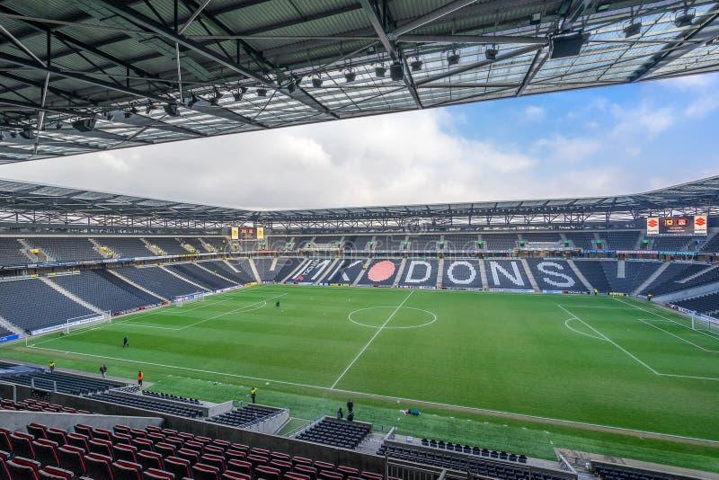 MK dons stadium in Milton Keynes. Milton Keynes,England on 22nd Jan 2017:Stadium mk is a football ground in the Denbigh district of Milton Keynes, it is the home stock images