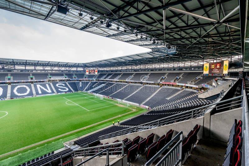 MK dons stadium in Milton Keynes. Milton Keynes,England on 22nd Jan 2017:Stadium mk is a football ground in the Denbigh district of Milton Keynes, it is the home royalty free stock photo
