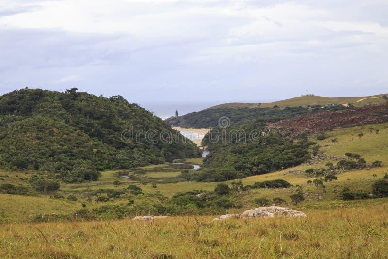Mkambati - costa selvagem imagem de stock