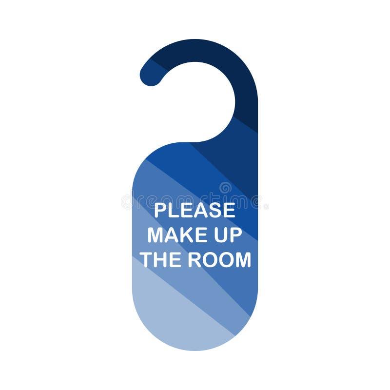 Mke encima del icono de la etiqueta del sitio libre illustration