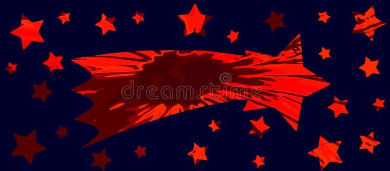 Mknąca gwiazda ilustracja wektor