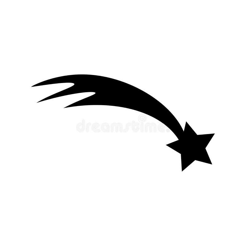 Mknąca gwiazda Płaska sieci ikona, znak odizolowywający na tle lub Inkasowy nowożytny trendu pojęcia projekta stylu wektor royalty ilustracja