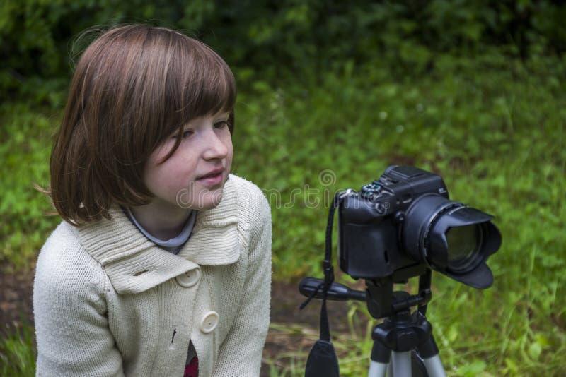Mknąca mała dziewczynka obraz royalty free