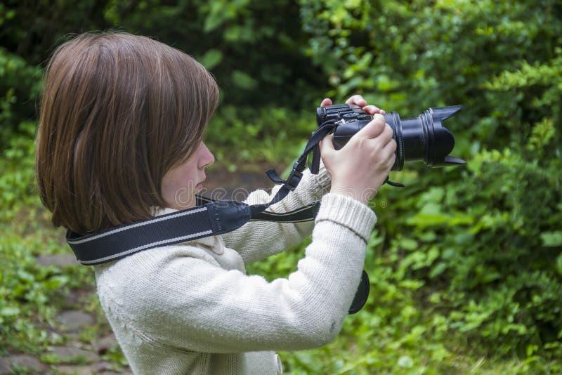 Mknąca mała dziewczynka fotografia stock