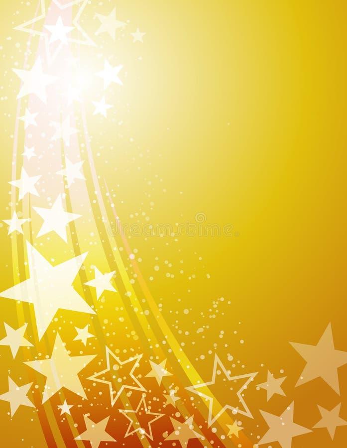 Mknącej gwiazdy tło ilustracja wektor