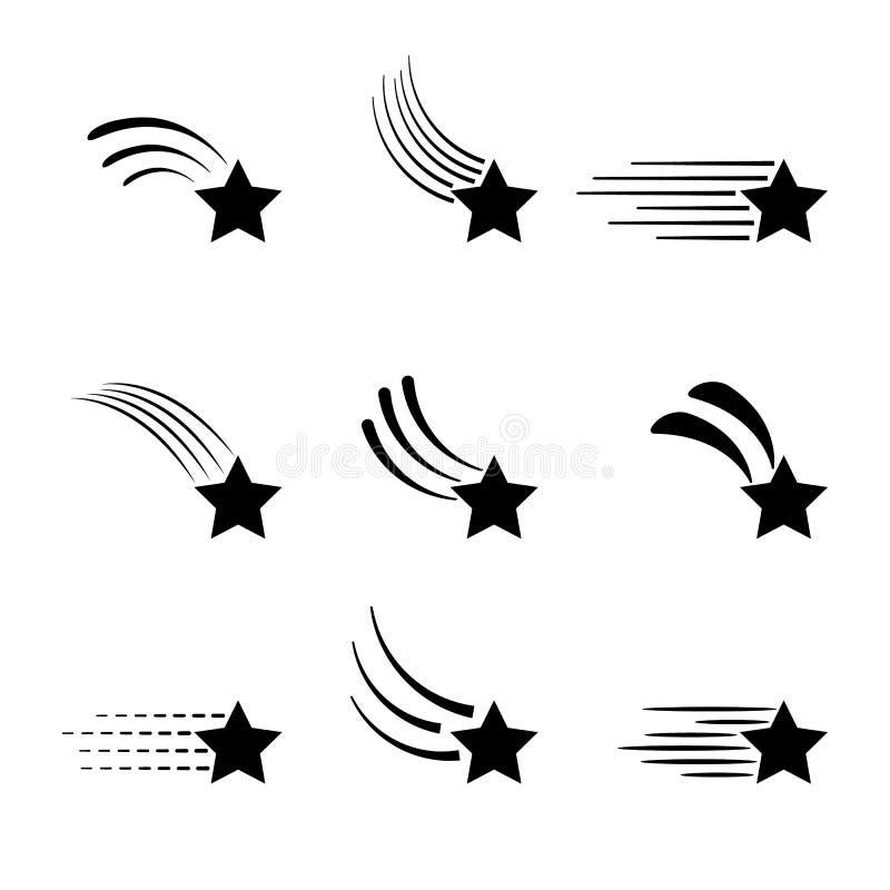 Mknących gwiazd ikony odizolowywać na białym tle fotografia royalty free