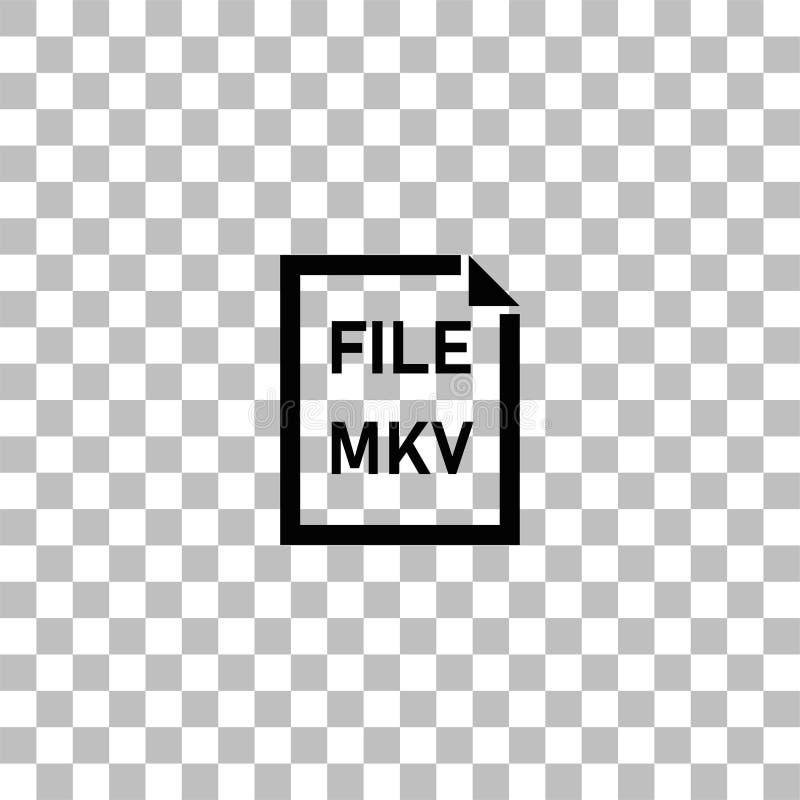MKV-mappsymbol framl?nges royaltyfri illustrationer