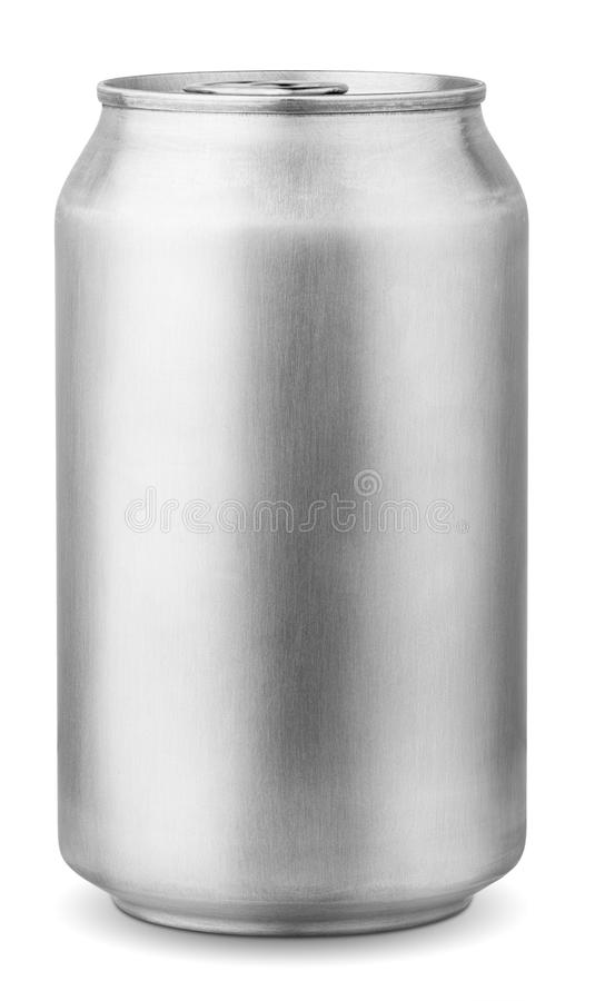 330 ml aluminum can royalty free stock photography