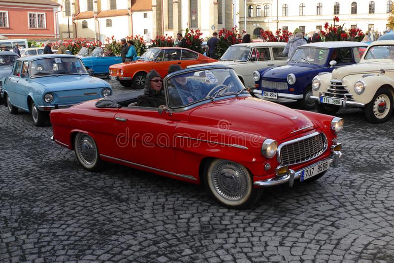 Oldtimer classic car meeting. Mlada Boleslav, Czech Republic - Sept 28, 2019 : Oldtimer classic car meeting royalty free stock images