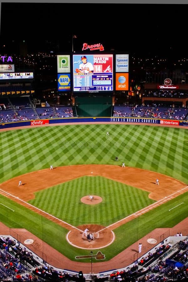MLB Atlanta Od Wysokości wysokość Braves - zdjęcie stock